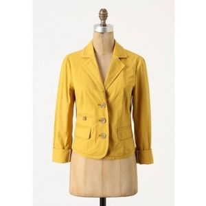 NWT ANTHRO DAUGHTER'S Mustard Yellow Jacket Size 6